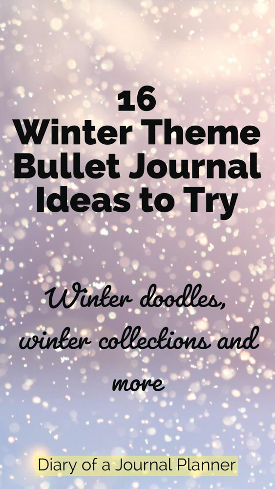Create the perfect winter bujo. We show you gorgeous winter bujo spreads, winter bujo doodles and other winter bujo ideas so you can make the best winter bujo theme.