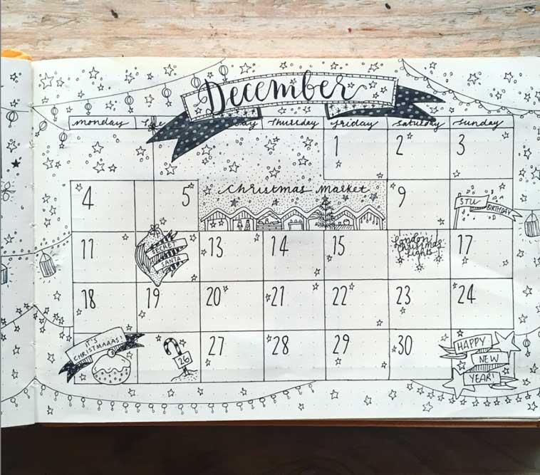 December Monthly log idea