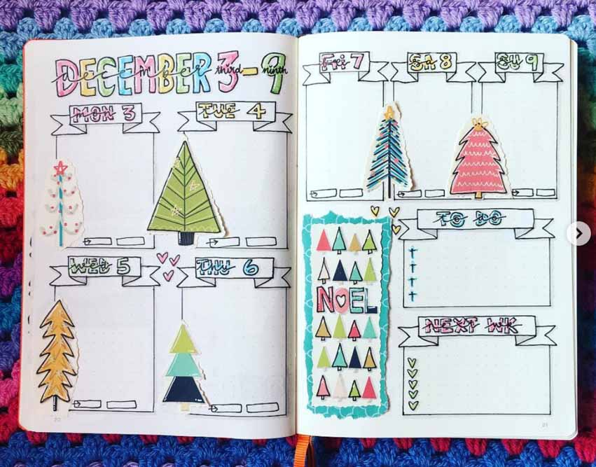 December weekly spread idea