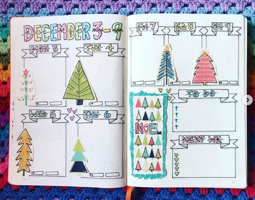 December weekly spread idea