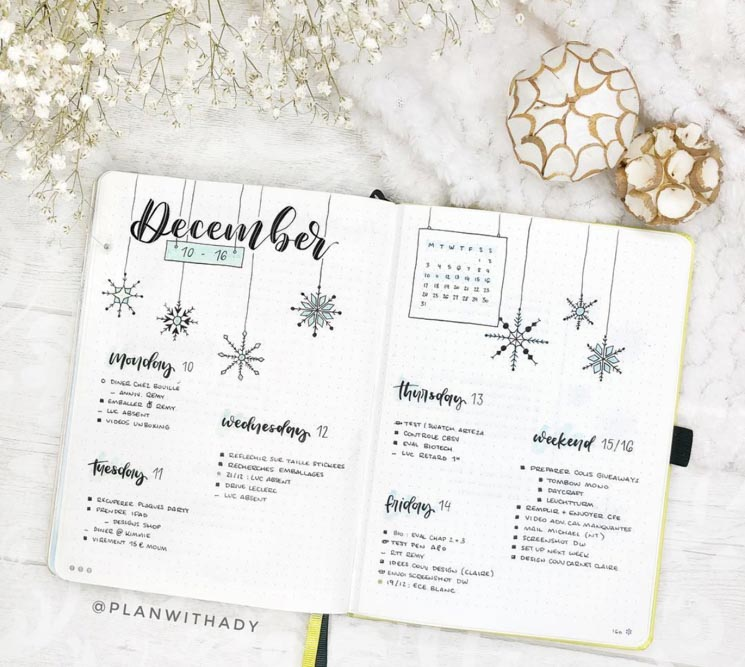 December weekly log idea