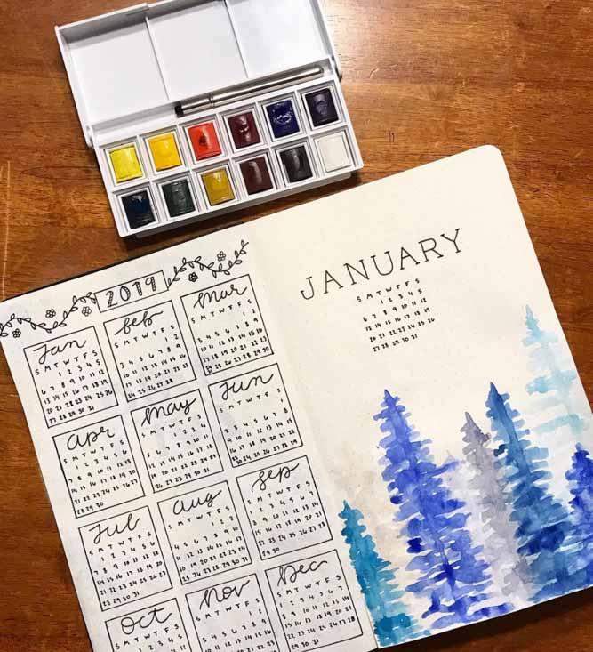 Winter Calendar bujo