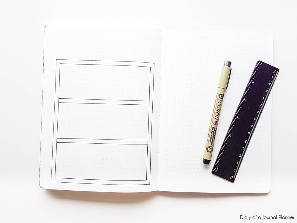 how to make a bullet journal books spread