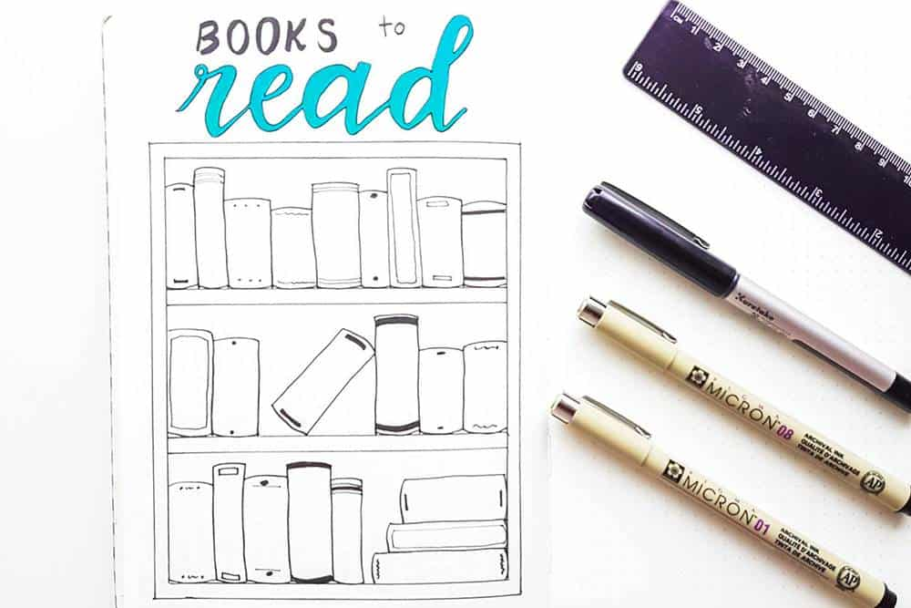 Learn how to make a bullet journal books to read template
