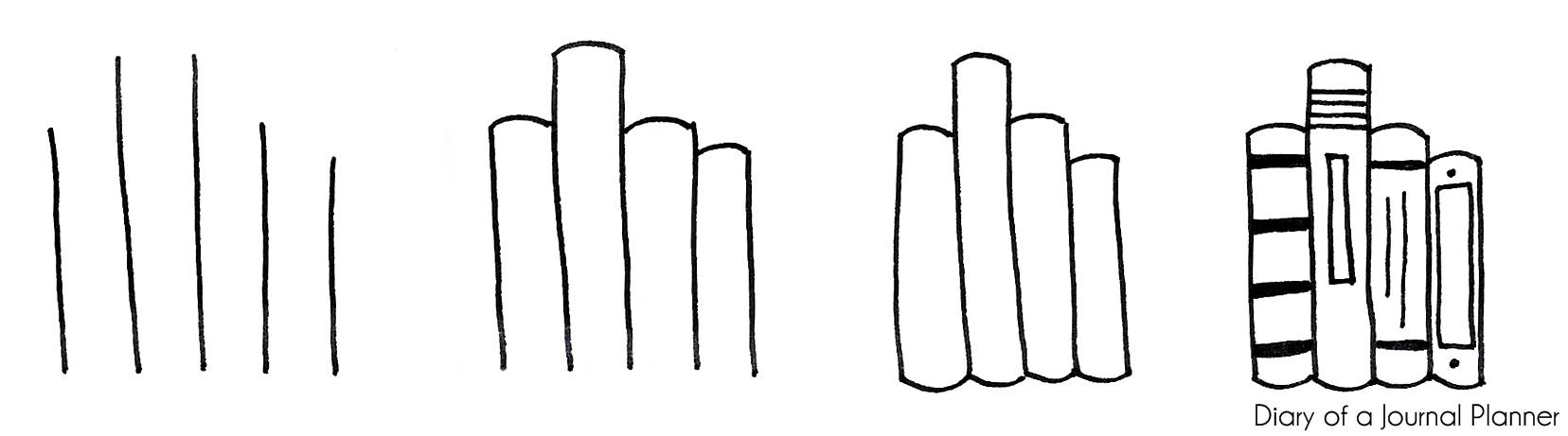 How to draw a book standing up