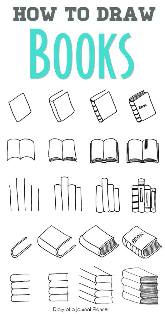 How To Draw A Book (5 Super Easy Step By Step Tutorials For