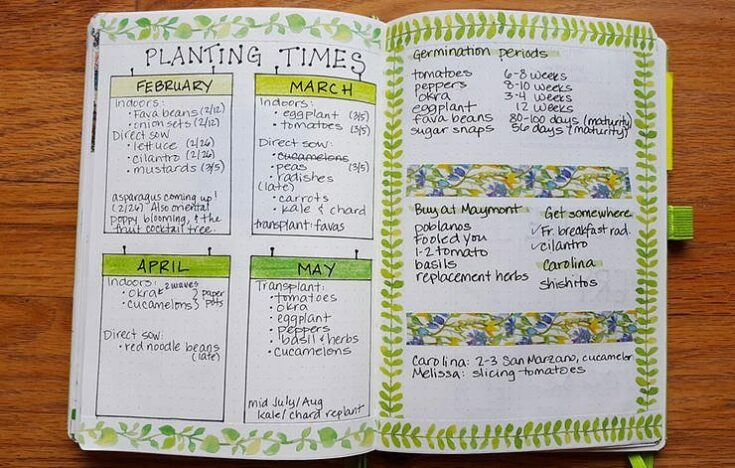 Bullet Journal For Gardening