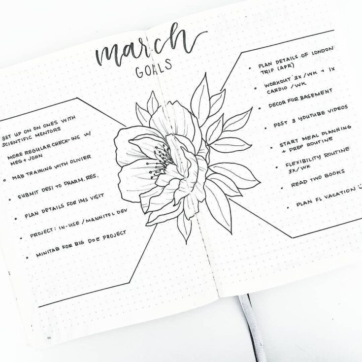 Spring Time Goals Page