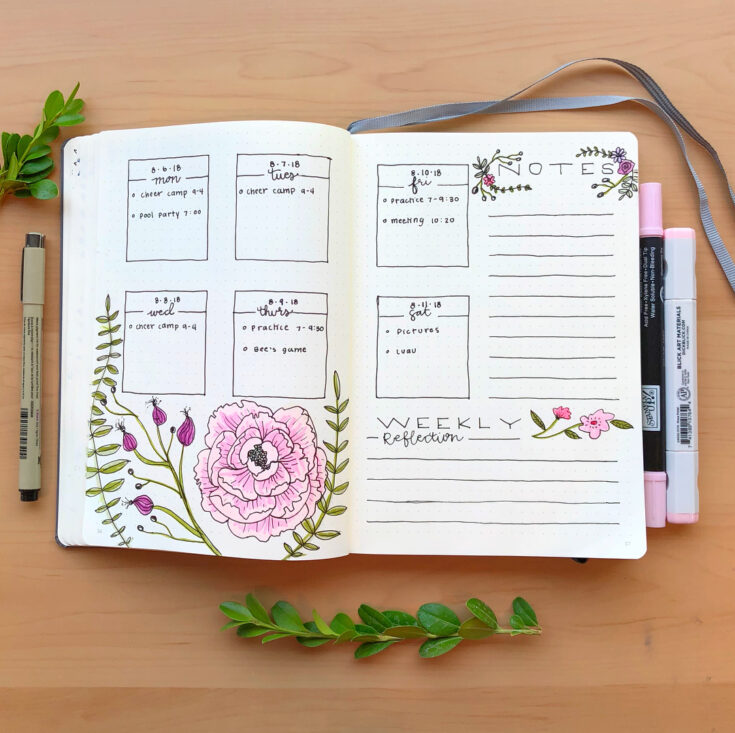 Floral Weekly Spread