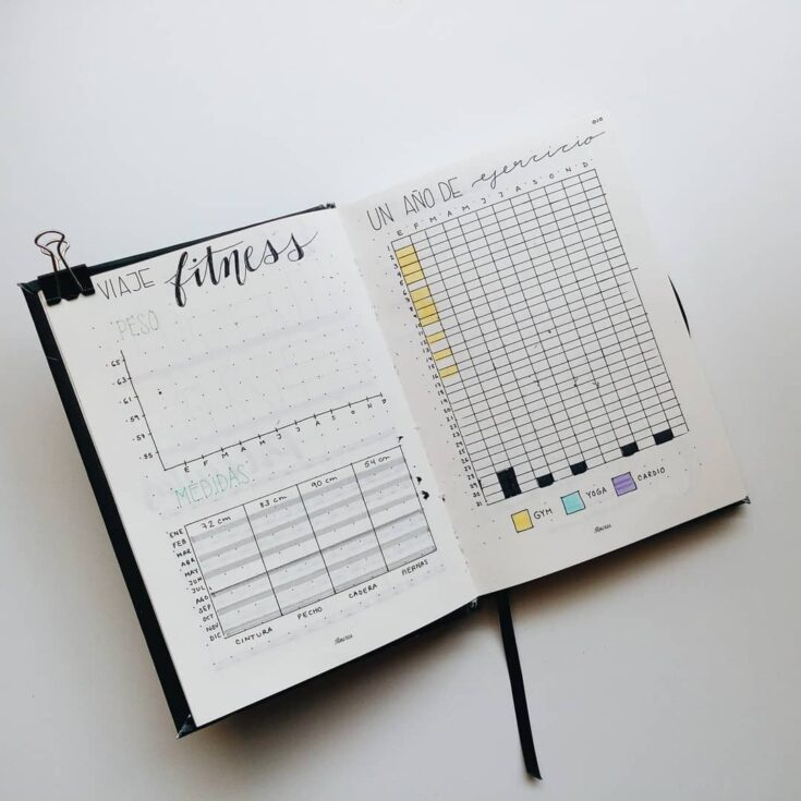 Exercise Tracker For Bullet Journal