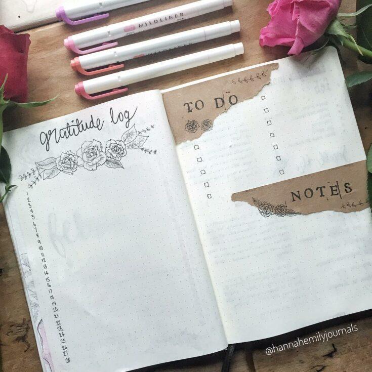 Floral Gratitude Log