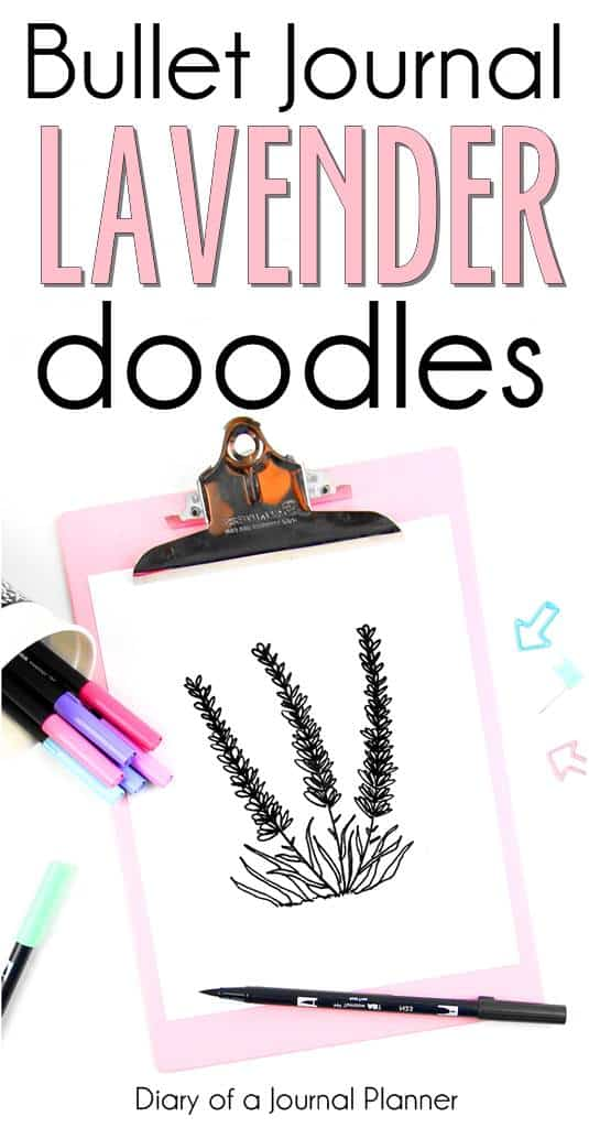 How to make bullet journal lavender drawings