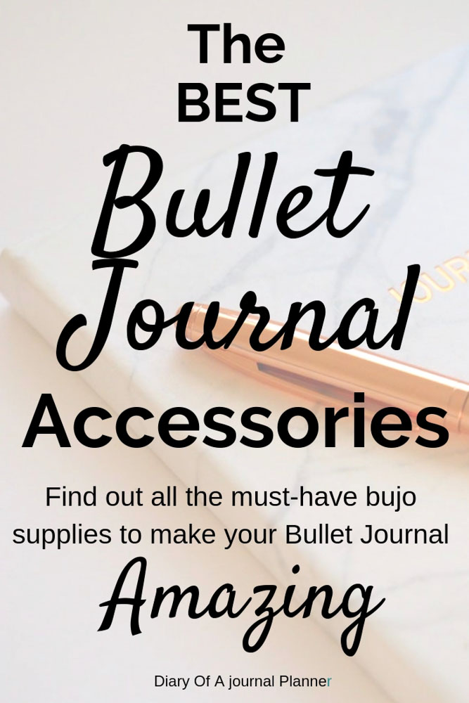 Get the best Bullet Journal Accessories that will help you journal better and faster. #bulletjournal #bulletjournalsupplies #bulletjournalaccessories #bujosupplies #bujo #bulletjournalideas