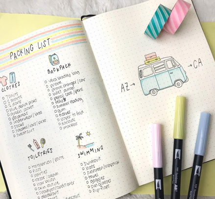 Packing Checklist Bujo