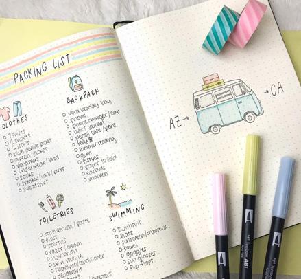 Packing Checklist Bujo
