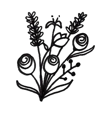 draw a flower bouquet