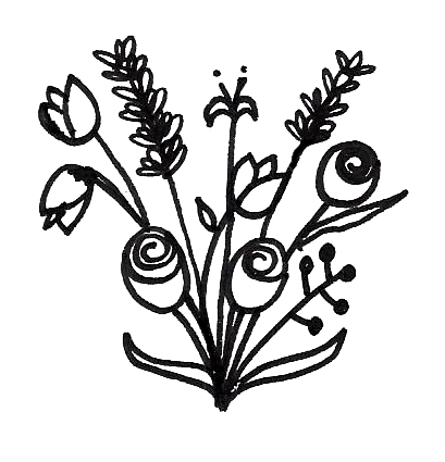 bunch of flower doodles