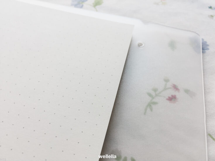Bullet journal dot grid printable page