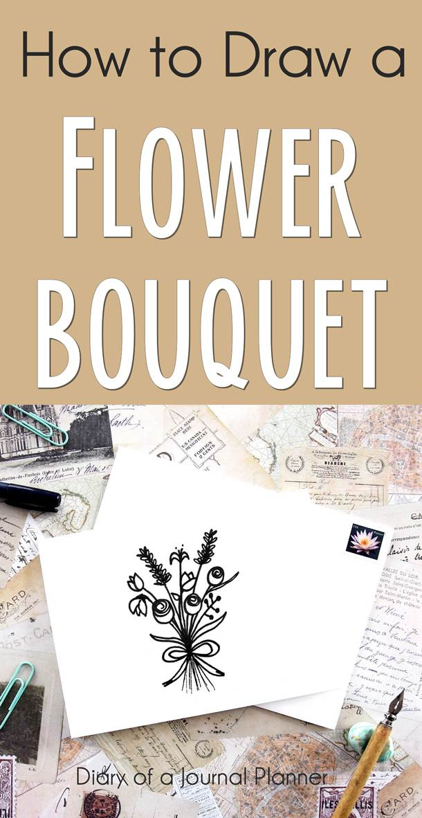 Learn how to draw a bunch of flowers with this easy step by step tutorial on flower bouquet drawing.