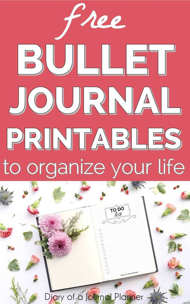bullet journal printables free