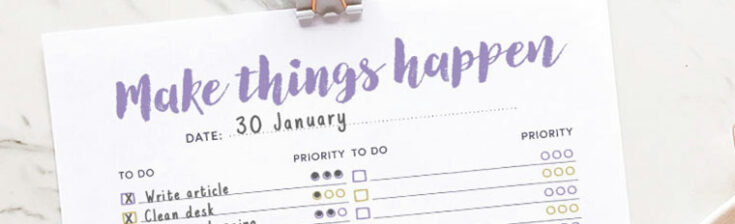 Free Printable To-do List for journals