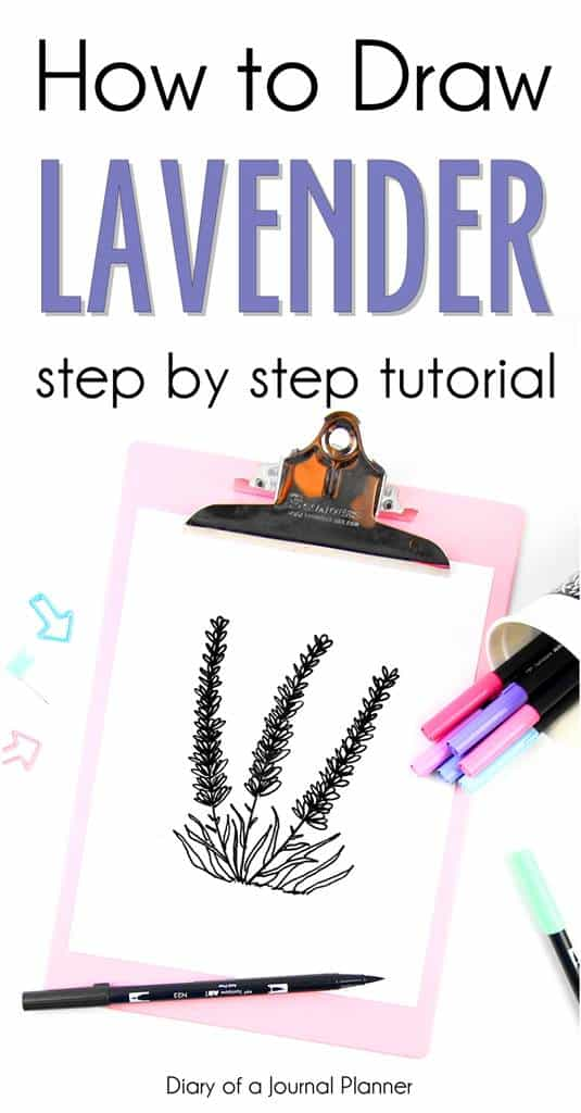 Simple black and white minimalist tutorial on how to draw lavender flowers. Perfect for bullet journals and botanical illustration designs. #doodle #doodles #drawings #howtodoodle #bulletjournal #bulletjournalideas #bulletjournalspread #bulletjournaling #bulletjournalinspiration #bujo #bujojunkies #bujolove #bujoinspire #bujocommunity #bulletjournaljunkies #bujoideas #bujoinspiration #planner #planneraddict #plannergirl #plannerideas #plannerpages