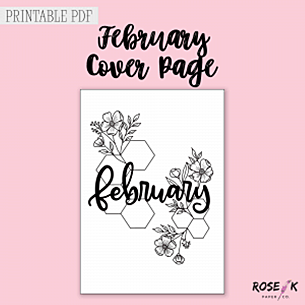 Free Bullet Journal Monthly Cover pages