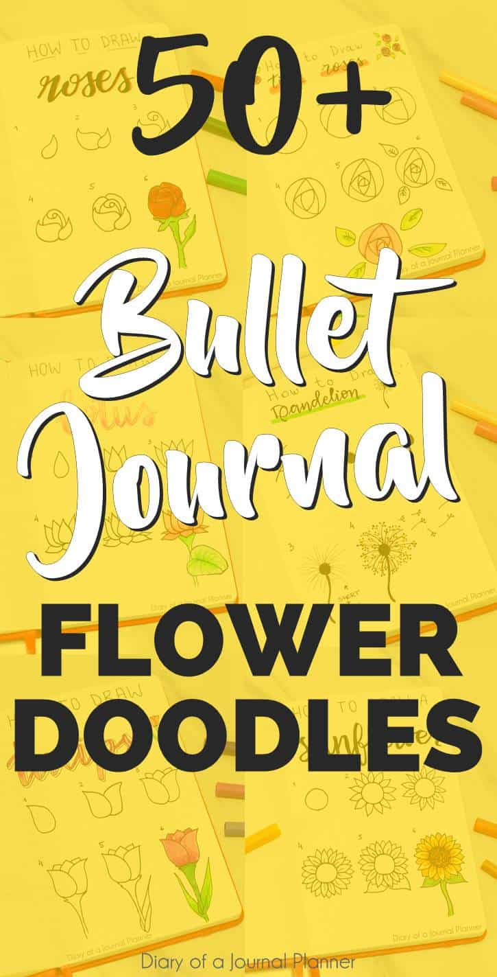 bullet journal doodles flowers