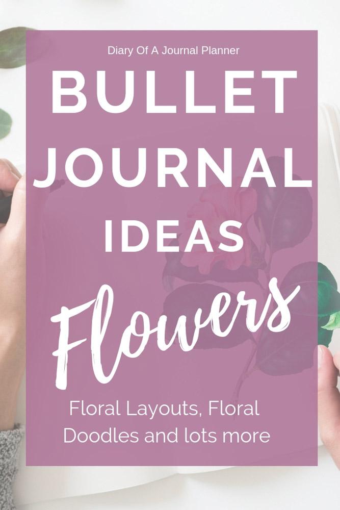 Flower bullet journal themes