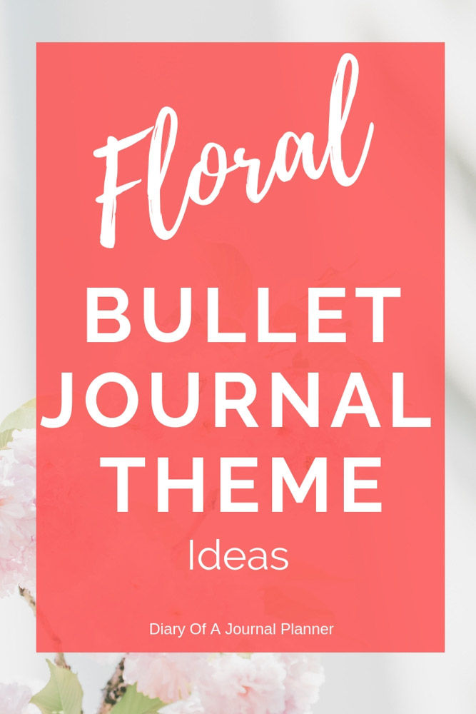 floral bullet journal theme