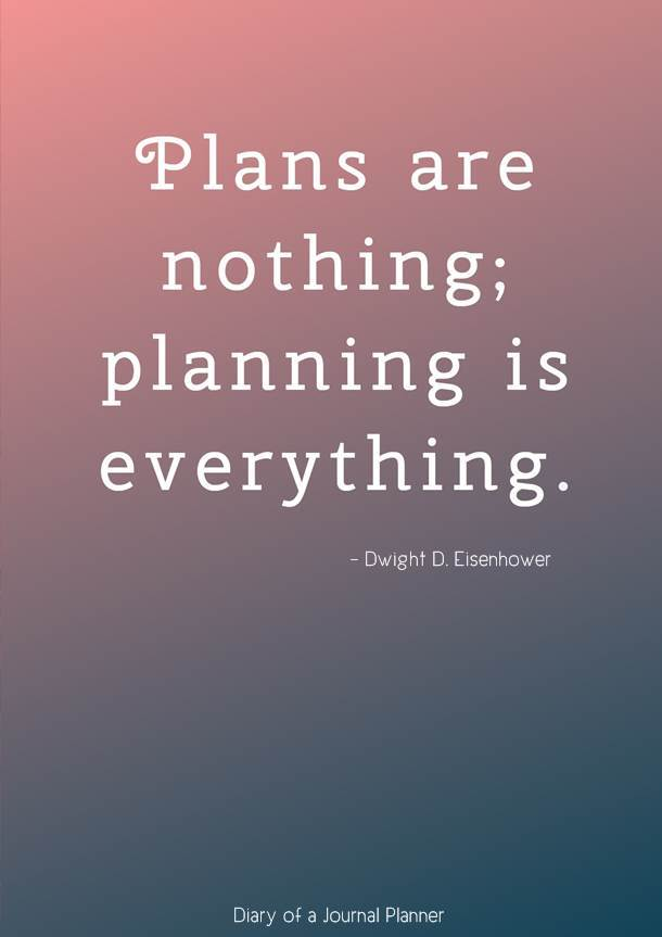 Plans are nothing; planning is everything #quotes #quote #quoteoftheday #quotestoliveby #quotesinspirational #planningquotes #motivationalquotes #motivationalquotes #inspirationquotes #inspirationalquotes #planning #planners #bujo #bulletjournal