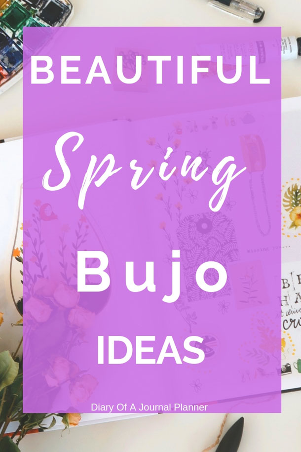 Make a pretty bujo with these spring theme bullet journal ideas. #springbujo #springbulletjournal #bulletjournalideas #sprinfbulletjournalcovers #Springbulletjournaltheme #springbulletjournaldoodles #bulletjournalinspiration #bulletjournallayouts