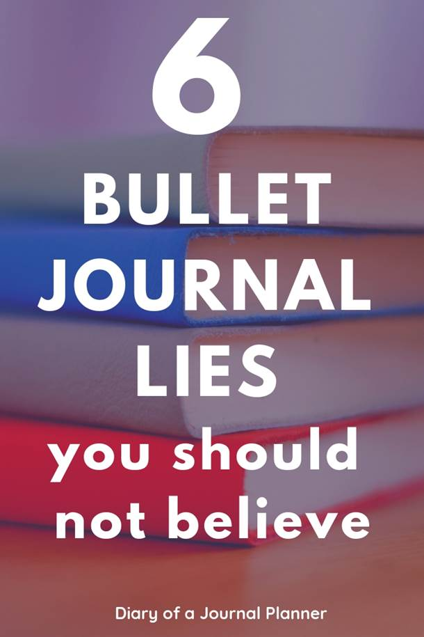 6 most common myths about bullet journaling and why you should ignore them! #bulletjournal #bujo #bulletjournalnewbie #bulletjournaltips #bujotips