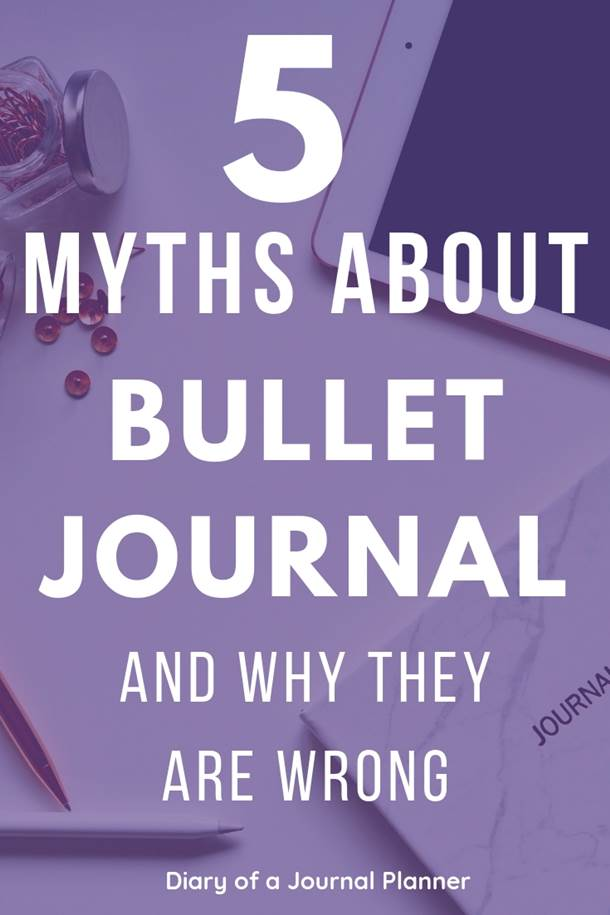 Read this post about bullet journal lies if you are new to bullet journaling! Don't let these myths stop you from starting a bujo. #bulletjournal #bujo #bulletjournalnewbie #bulletjournaltips #bujotips