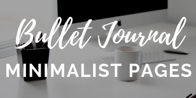 bullet journal minimalist spreads