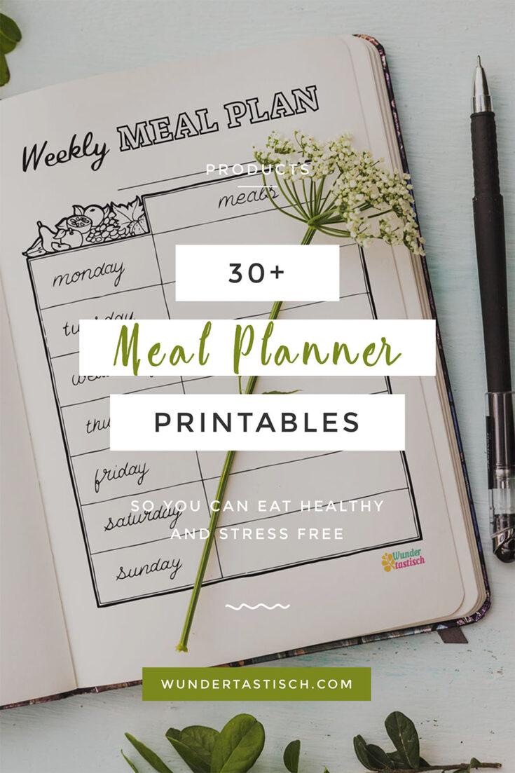 Meal Planner Journal Printables pdf