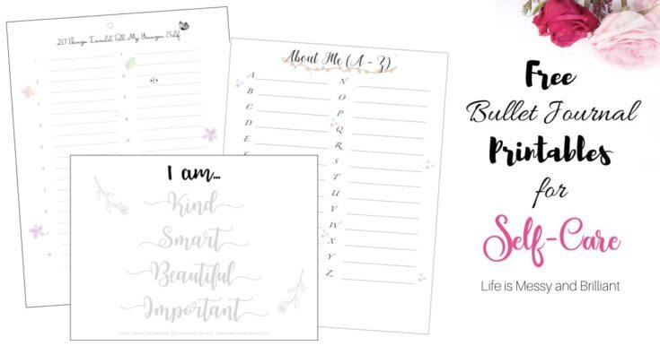 Bullet Journal Printables for Self-Care