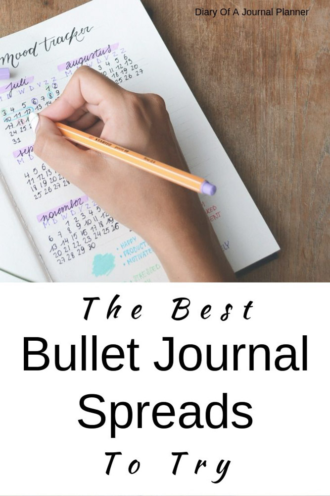 Bullet Journal Spreads to try