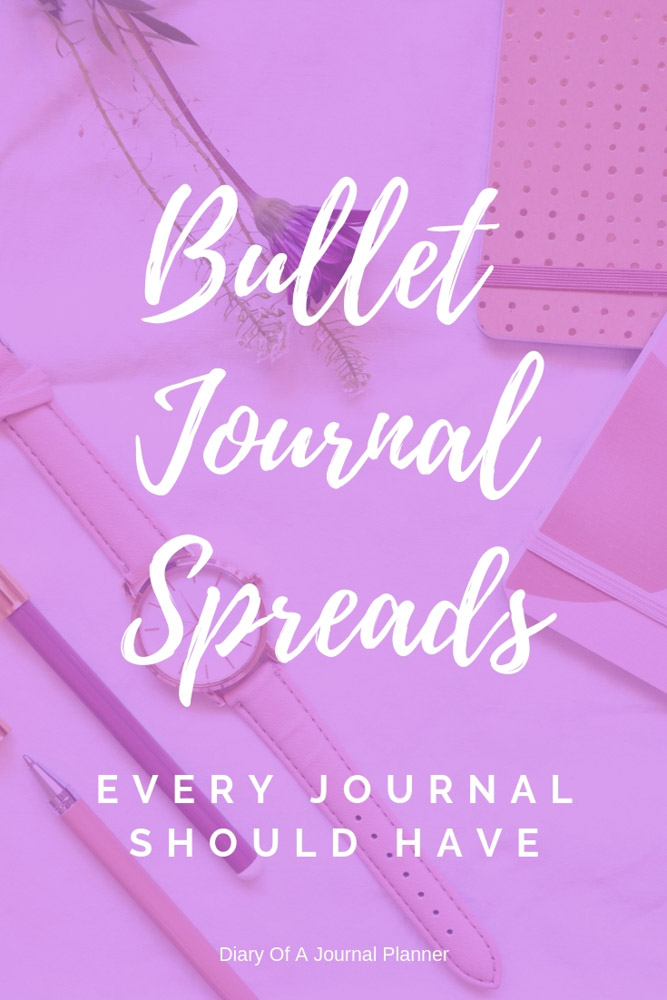 Spreads for Bullet Journals