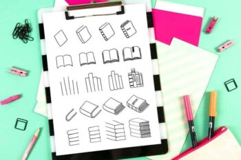 How to draw a book doodles