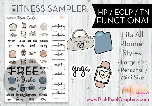 Fitness Sticker Printables Free