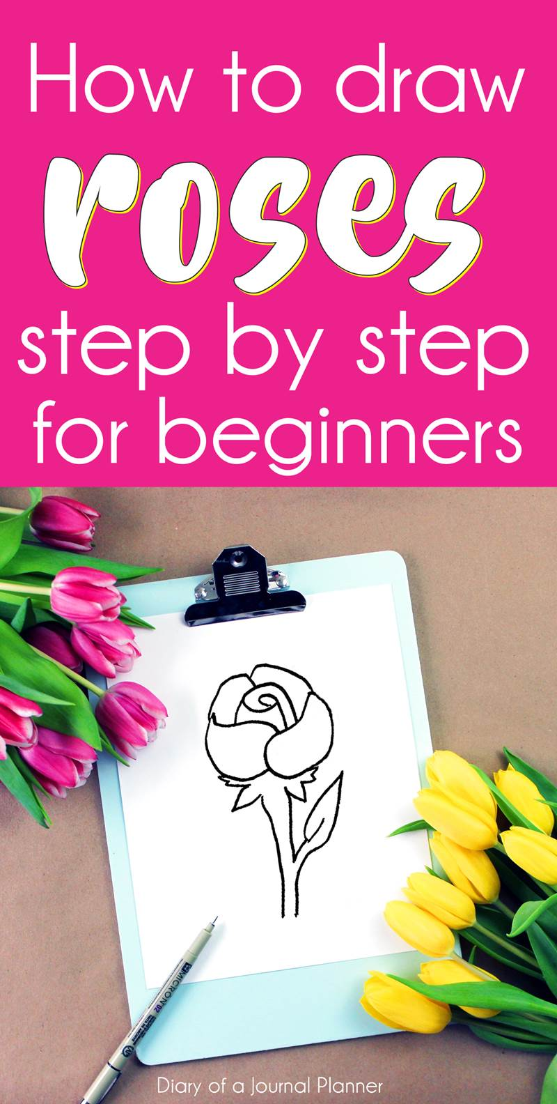 How to draw roses for beginners