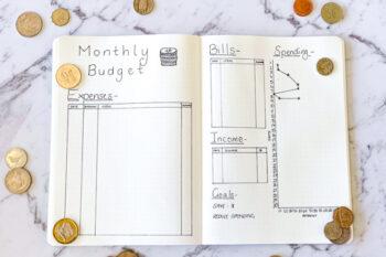 budget tracker bullet journal
