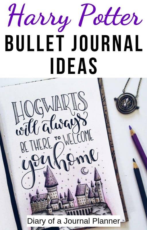 bullet journal harry potter theme