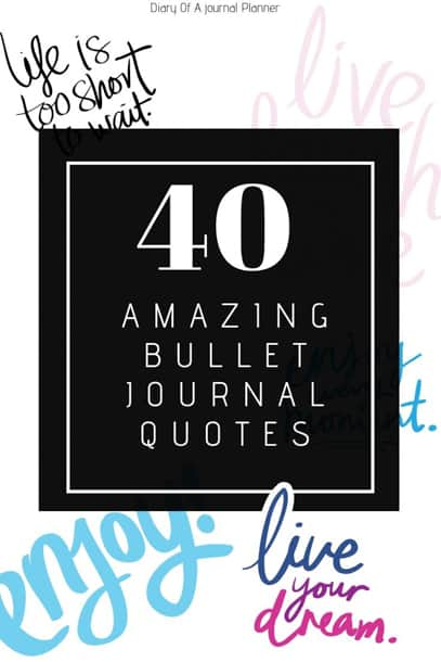 Quotes For Bullet Journal