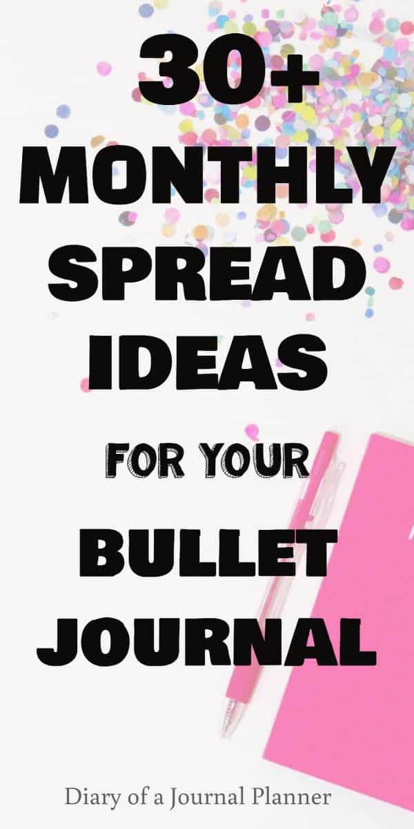 monthly calendar bullet journal