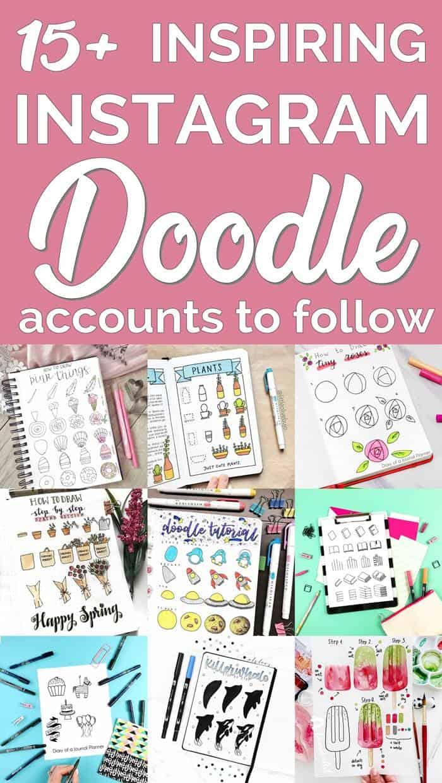 Bullet journal doodles accounts on instagram