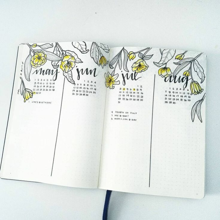 Calendar For Bullet Journal
