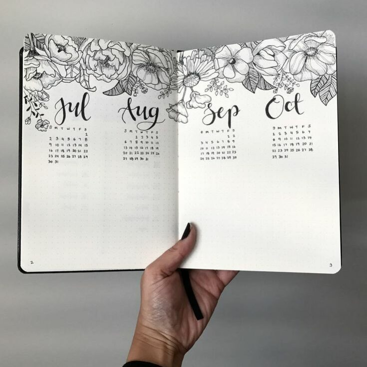 Yearly Calendar Bullet Journal