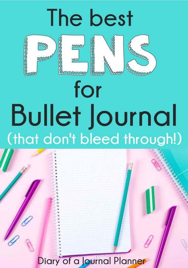 best black pen for bullet journal